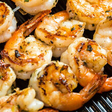 Cooking a Grilled shrimp dinner in evansville IN