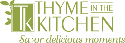 Thyme in the Kitchen, Evansville Cooking logo